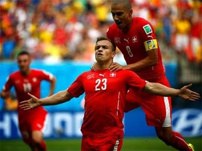 """FÚTBOL Mundial Brasil 2014 -- Honduras 0-3 Suiza. """" Shaquiri hizo fácil la victoria y los octavos de final"""""""