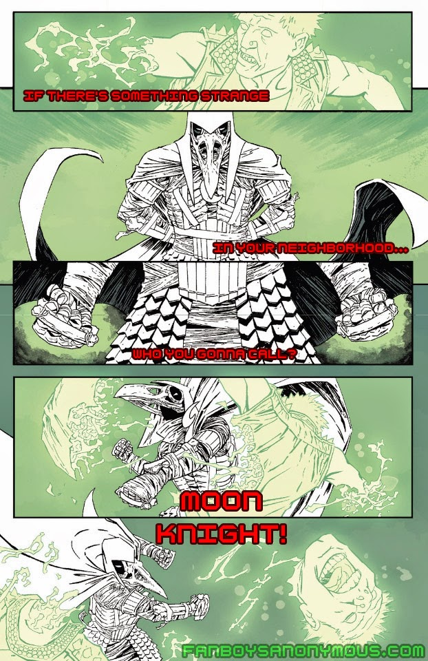 Read Moon Knight's supernatural adventures in Moon Knight: Fist of Khonshu