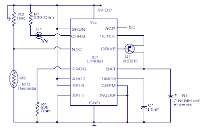 Wiring Schematic Diagram Nimh Battery Charger Using Lt 4060