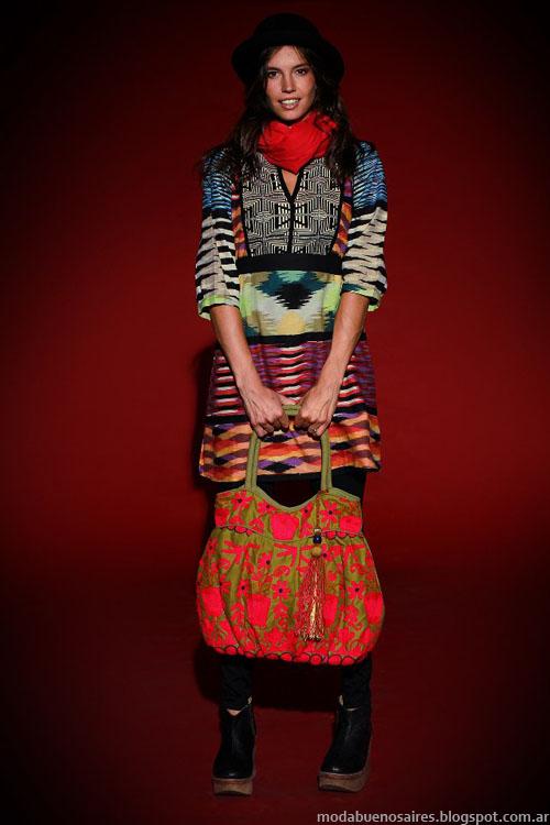 Tunicas y vestidos moda invierno 2013