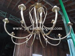 Kerajinan lampu gantung kuningan lampu robyong kerajinan tembaga kerajinan kuningan