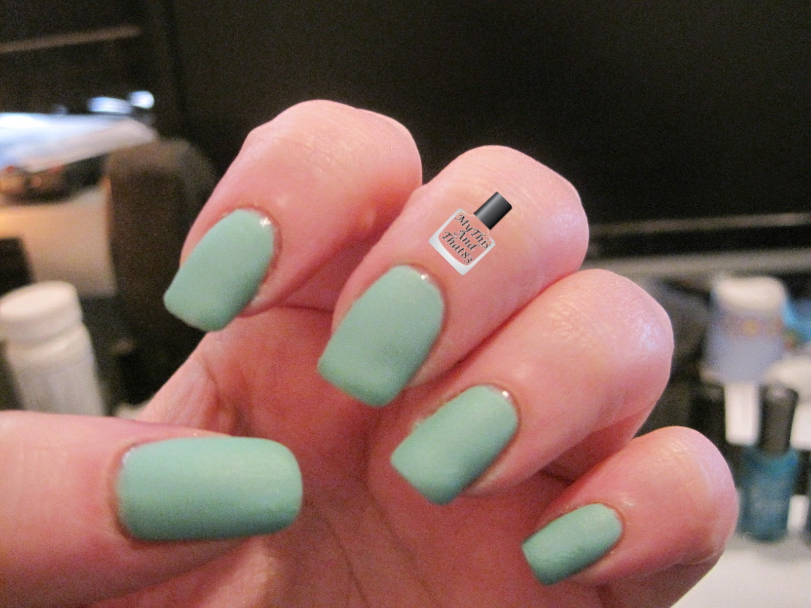 Sinful Colors Mint Apple with a matte topcoat
