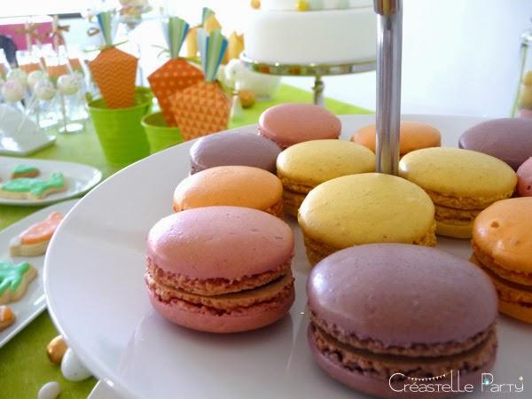 Macarons Sweet table lapin de Pâques