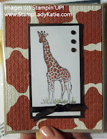 Card made with Stampin'UP! stamp set called Zoo Review