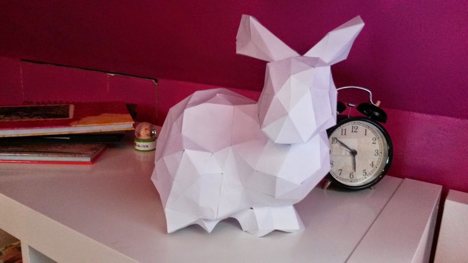 Osterdeko: Papierosterhase