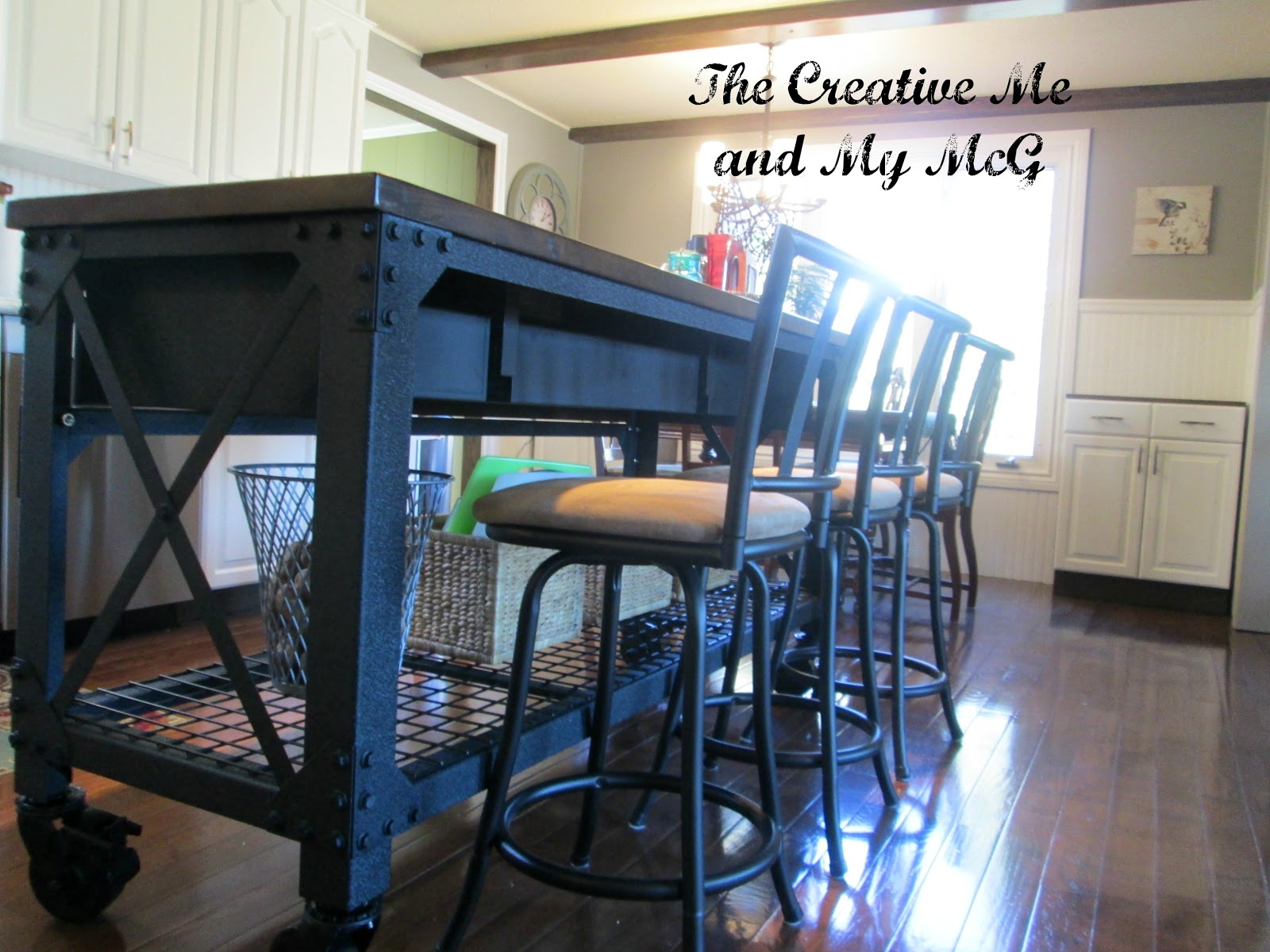Kitchen island table with stools - The Creative Me And My Mcg First Project Of The New Year