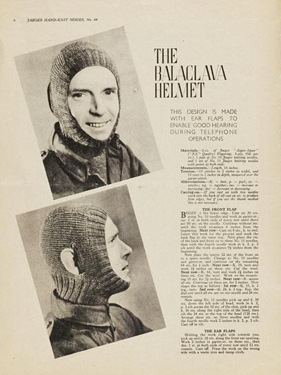 1940's Knitting - Balaclava Helmet