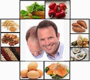 Alimentos contra la caida del cabello