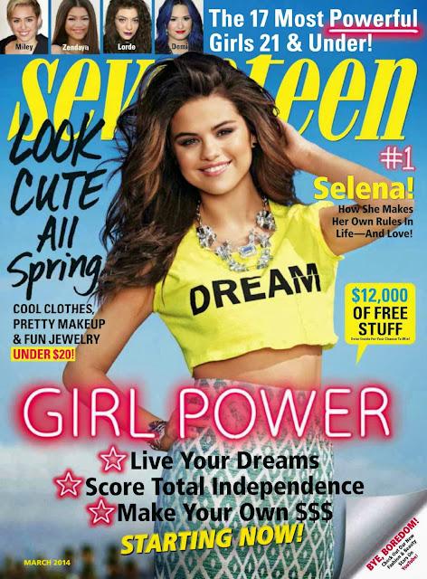 Selena Gomez covers Seventeen Magazine March 2014