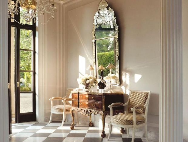 Elegant Foyer Decor : Roses and rust monday musings reflecting on mirrors