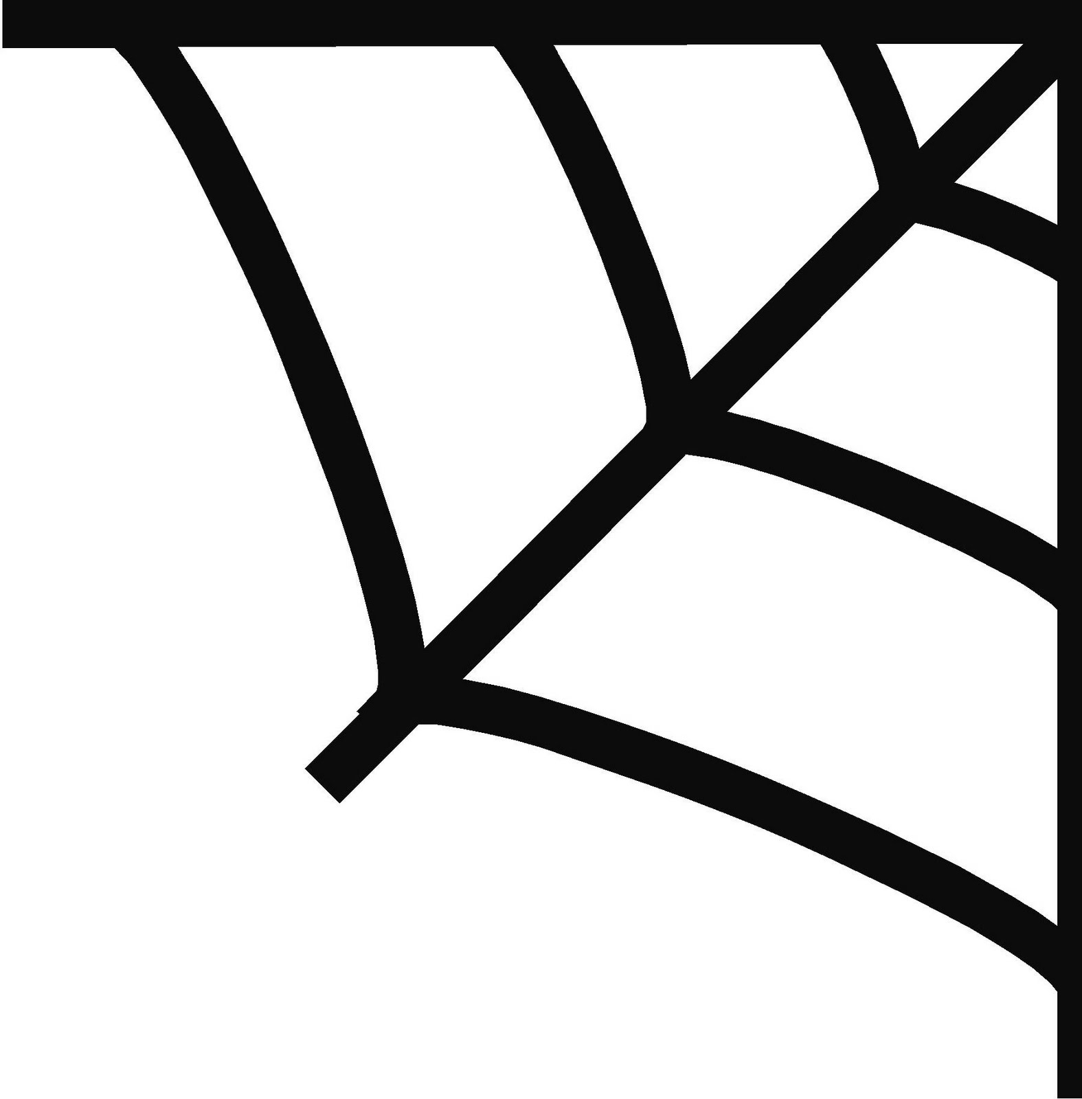 spiderman web stencil