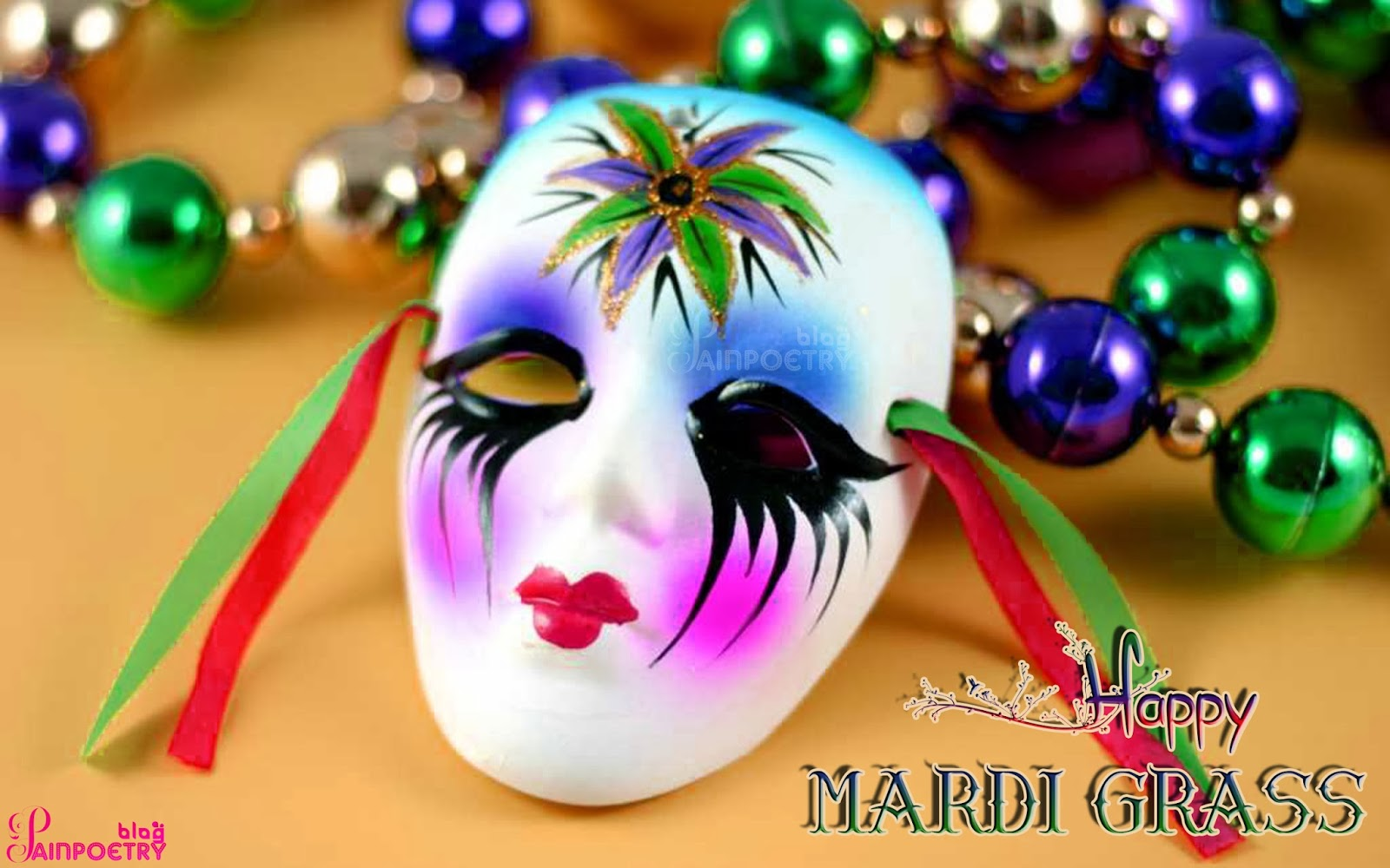 mardi-gras-lonely-mask-Wallpaper