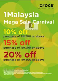 Crocs 1Malaysia Mega Sale Carnival