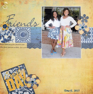 friends scrapbooking layout a cherry on top