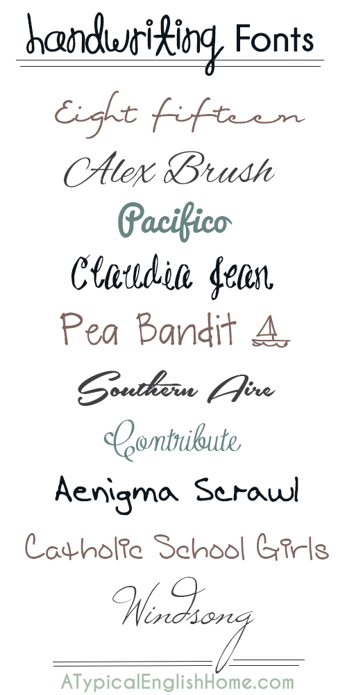 best different writing fonts - photo #2