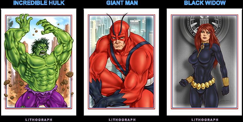 Hulk - Giant Man - Black Widow