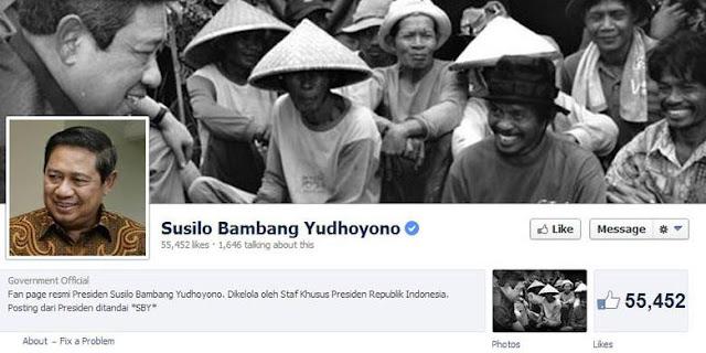 Posting Perdana SBY di Facebook