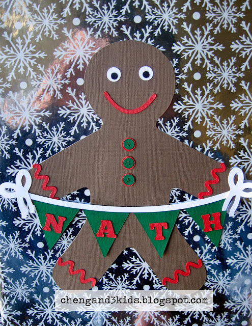 Gingerbread Man Gift Tag - Christmas gift tag idea by chengand3kids.blogspot.com