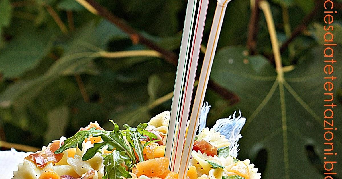 Dolci e salate tentazioni farfalle al prosciutto melone e rucola - Appunti dalla mia cucina ...