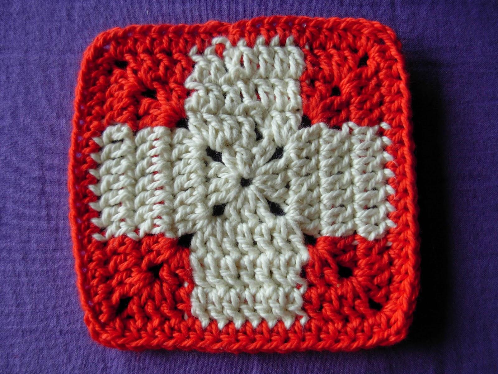 Granny Squares Schweizerkreuz oder Rotes Kreuz