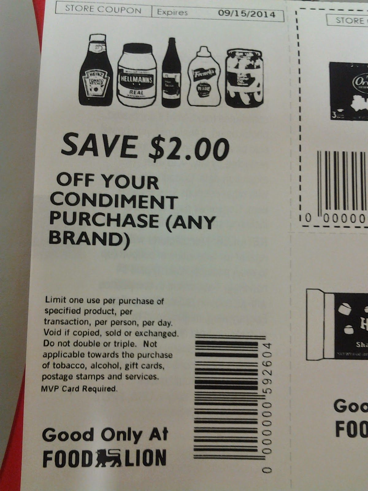 Food Lion store coupon