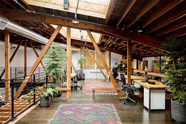 warehouse turned into a loft office interior design ideas