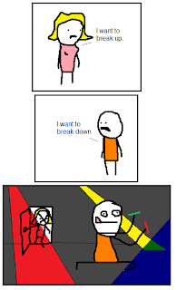 i want to break up, i want to break down. funny comic