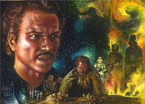 Lando Calrisian LE Print © 2012 Jeff Lafferty
