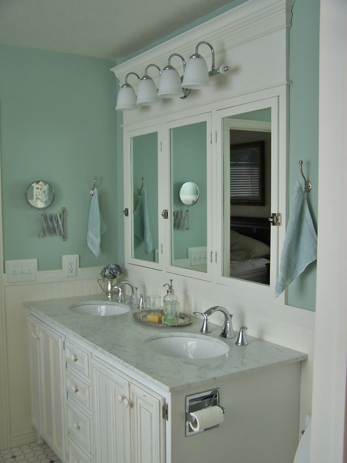 Remodelaholic complete diy master bathroom remodel - Bathroom mirrors and medicine cabinets ...