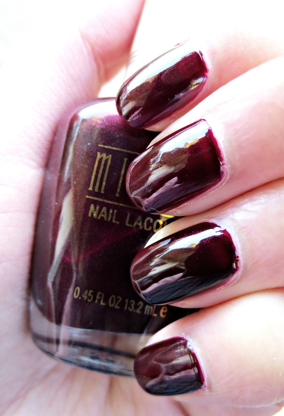 The Lady n\' The Tramp: Review: Milani Nail Lacquer, \'Black Cherry\'