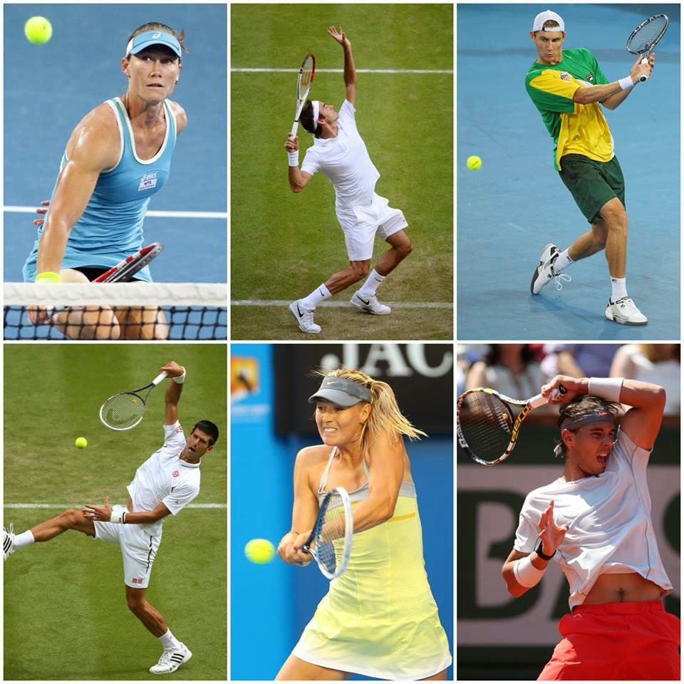 Tenisçiler Stosur, sharapova, federer djokovic, nadal