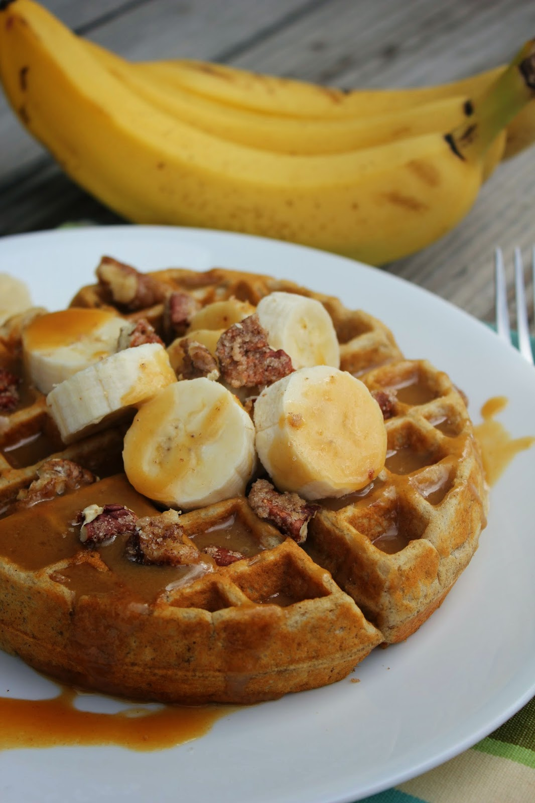 Deals to Meals: Banana Bread Waffles with Browned Butter Syrup