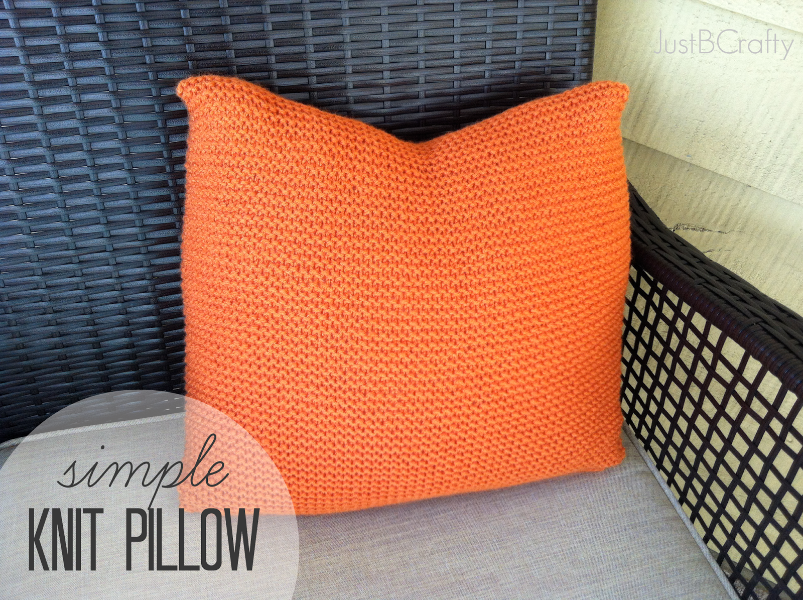 DIY: Crate and Barrel Inspired Simple Knit Pillow - Just Be Crafty