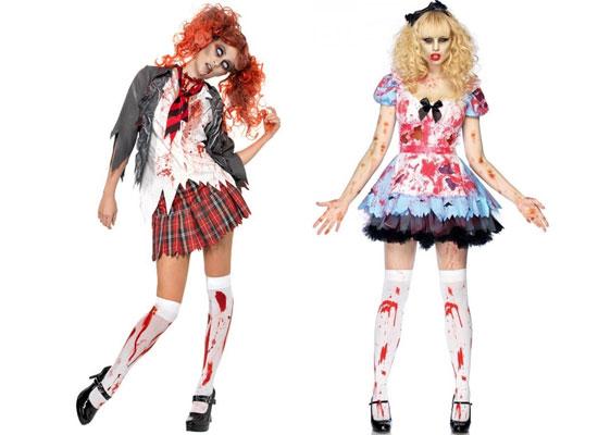 Teen Halloween Costume Ideas teen sky blue crayon dress 20 Best Unique Creative Yet Scary Halloween Costume Ideas 2012