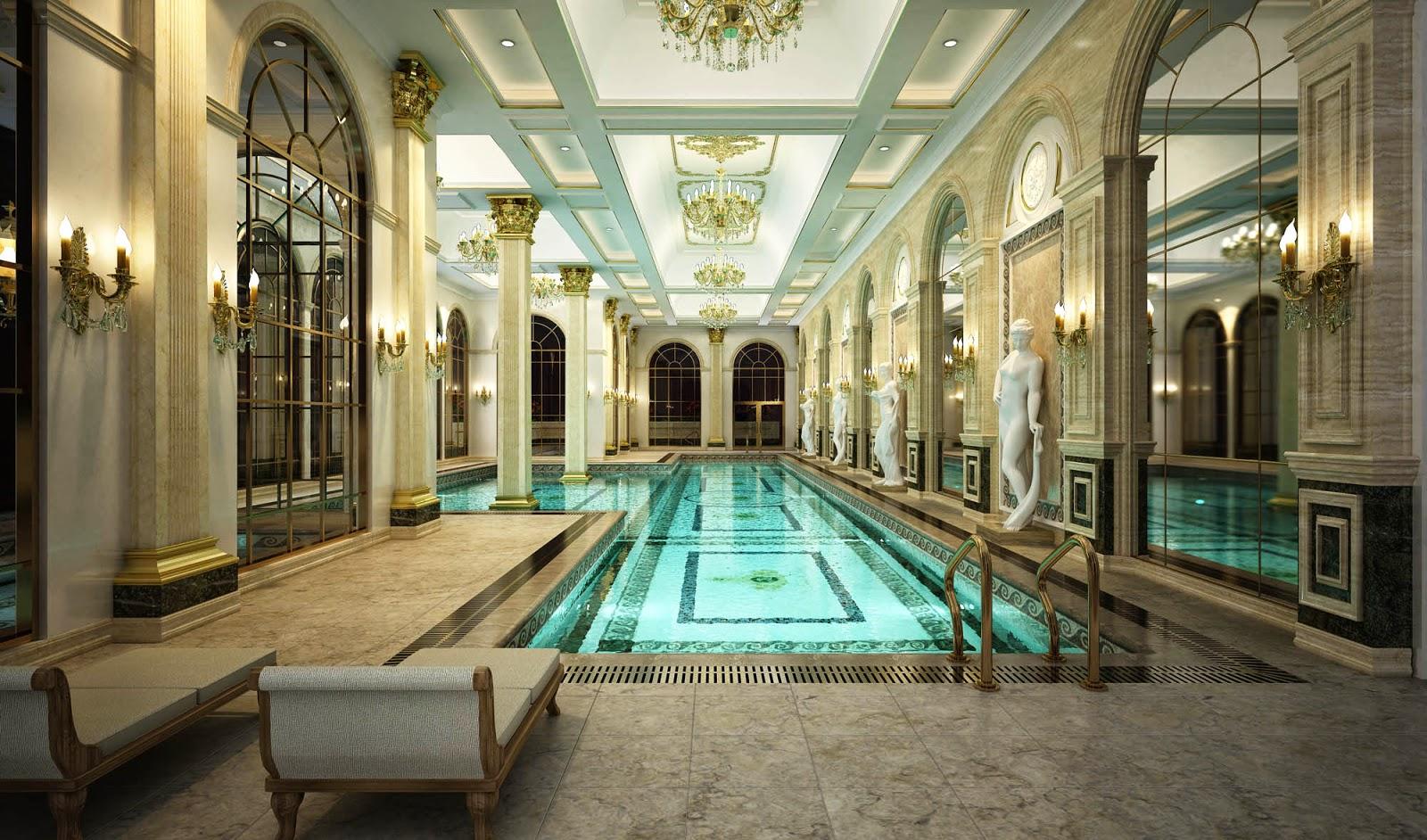 Hồ bơi trong nhà của D'.Palais de Louis
