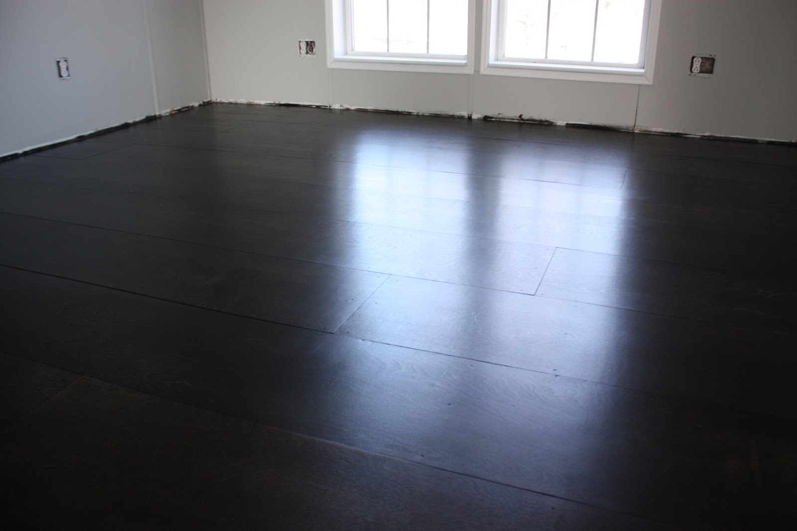 All quiet on the midwestern front diy plywood floor tutorial for Diy flooring