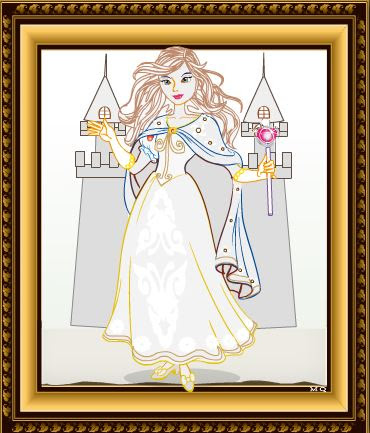 pintar on Princesa graciosa
