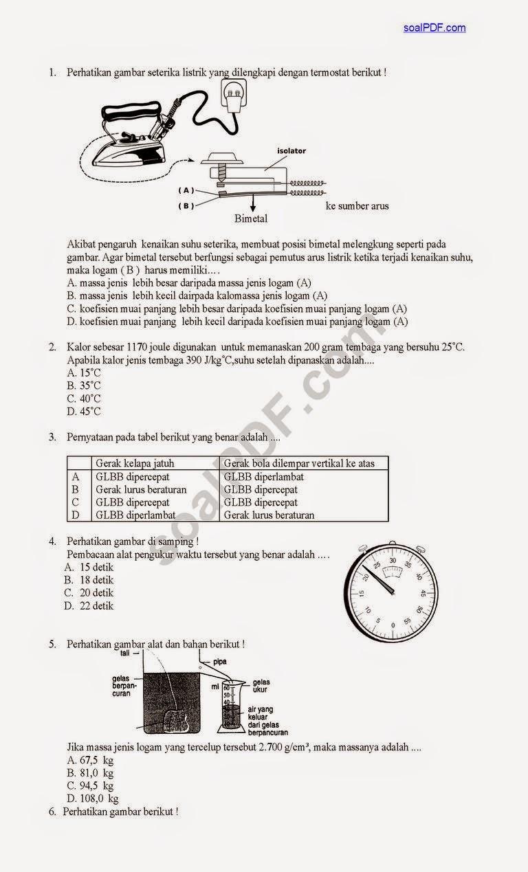 Soal Latihan Un Smp Ipa Matematika Indonesia Inggris Info Lengkap
