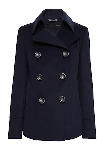 next navy maternity coat
