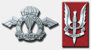 Indian Army Parachute Regiment insignia and SF badge