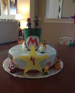 super mario brothers bros cake birthday 4 boy