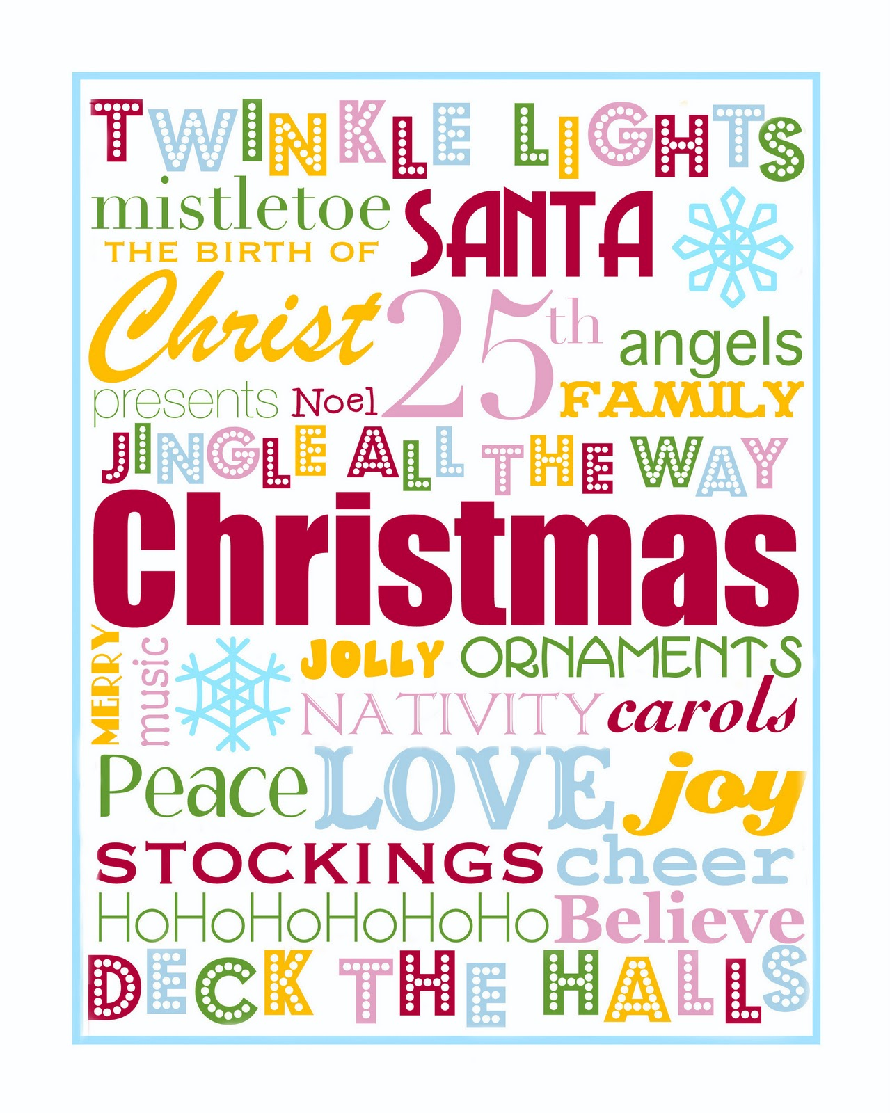 It's just an image of Sweet Free Christmas Printable