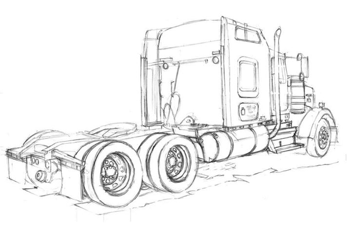 printable big rig coloring pages - photo#31
