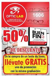 50% DE DESCUENTO EN OPTIC LAB EN EL BUEN FIN, EL FIN DE SEMANA MAS BARATO DEL AÑO