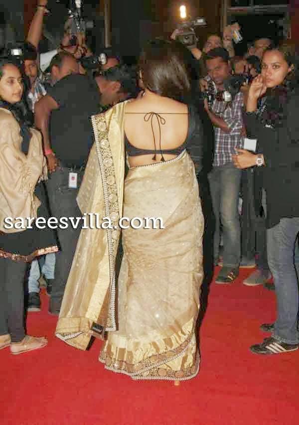 Vidya Balan In Backless  Saree Blouse