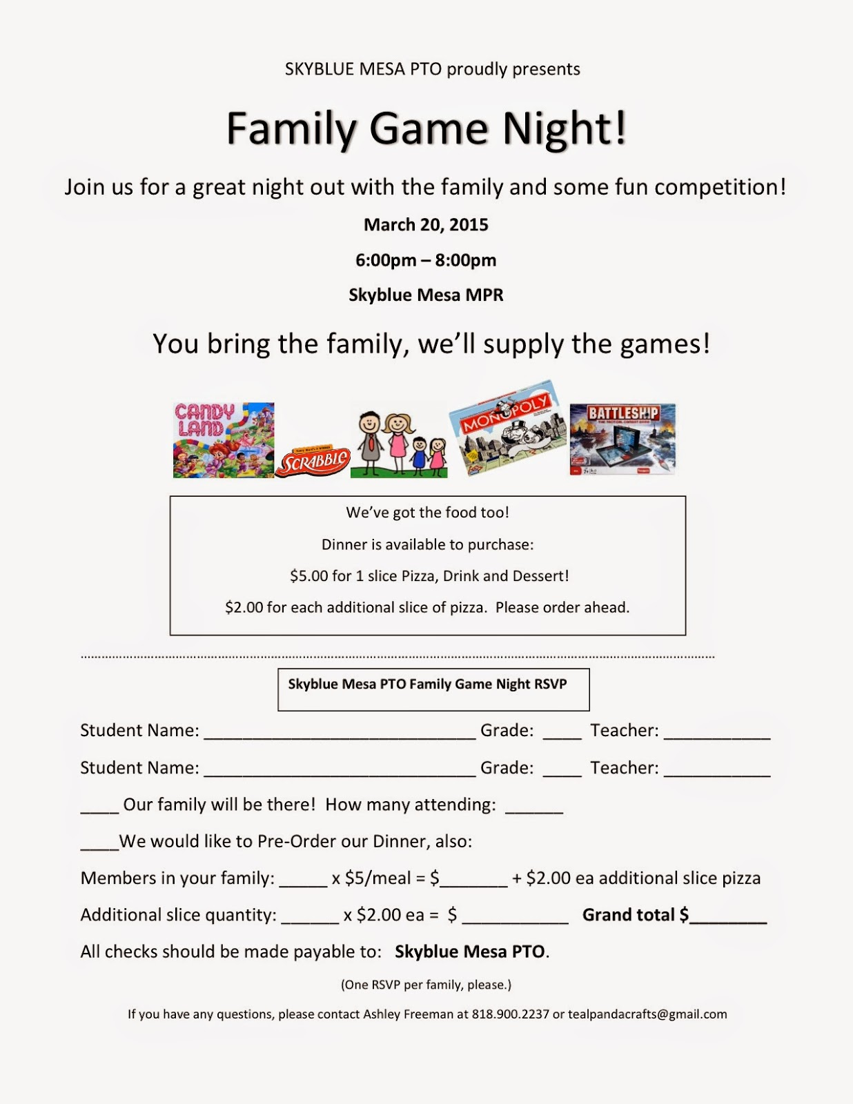 Skyblue Mesas Family Game Night Is Coming Up This Week Friday March 20th 6pm 8pm Please RSVP NOWdont Miss Out On The Fun