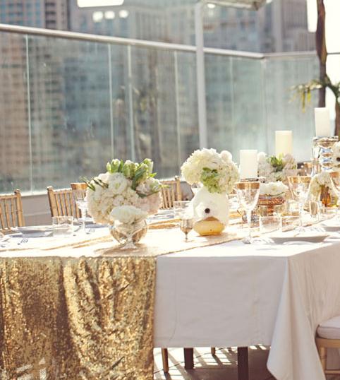 Dcoration De Mariage Une Table En Or Tout Pour Mon