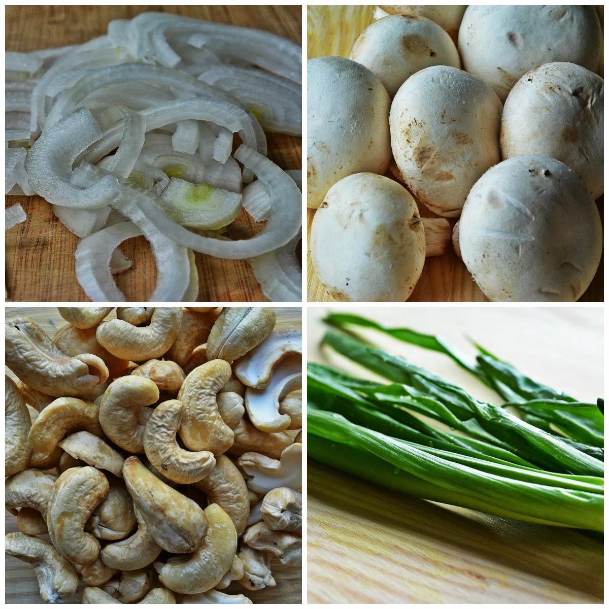 Sałatka ze szpinaku i pieczarek - składniki
