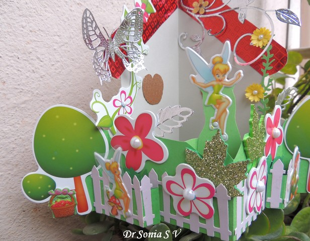 House shaped pop up card
