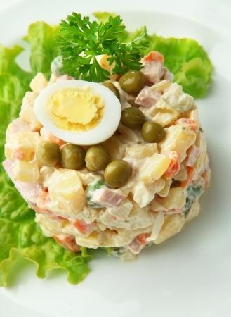 Foto de la ensalada rusa hecha en Perù